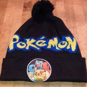 Pokémon knit hat, black